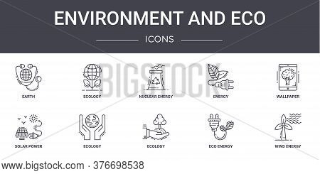 Environment And Eco Concept Line Icons Set. Contains Icons Usable For Web, Logo, Ui Ux Such As Ecolo