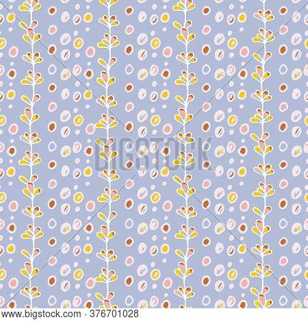 Vector Seamless Pattern Floral. Design Element. Floral Seamless Vector Pattern. Vector Seamless Text