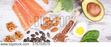 Ingredients Containing Omega 3 Acids, Unsaturated Fats And Dietary Fiber, Healthy Nutrition, Lifesty