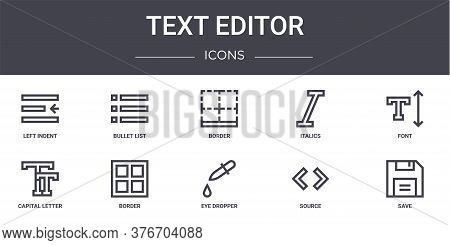 Text Editor Concept Line Icons Set. Contains Icons Usable For Web, Logo, Ui Ux Such As Bullet List,