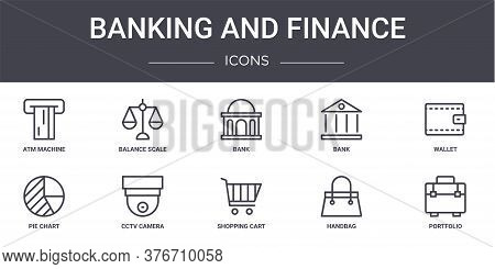Banking And Finance Concept Line Icons Set. Contains Icons Usable For Web, Logo, Ui Ux Such As Balan