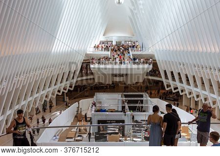 New York, Ny, Usa - July 20, 2019:  The Oculus Building, World Trade Center Station Hub