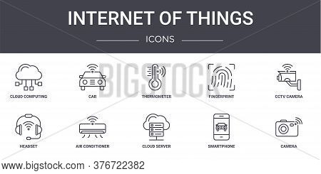 Internet Of Things Concept Line Icons Set. Contains Icons Usable For Web, Logo, Ui Ux Such As Car, F