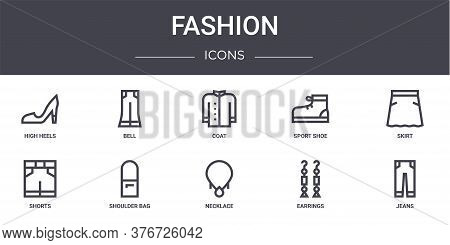 Fashion Concept Line Icons Set. Contains Icons Usable For Web, Logo, Ui Ux Such As Bell, Sport Shoe,