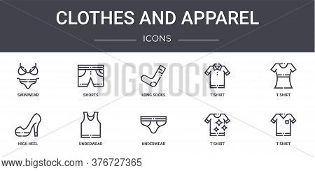 Clothes And Apparel Concept Line Icons Set. Contains Icons Usable For Web, Logo, Ui Ux Such As Short