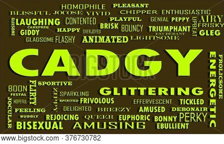Cadgy Word Which Connected With Human Relationship Displayed On Text Cloud Environmental Vector Abst