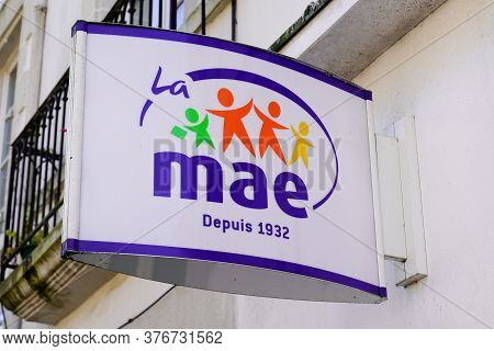 Bordeaux , Aquitaine / France - 07 07 2020 : Mae Logo And Text Sign Of French Insurance For Teacher