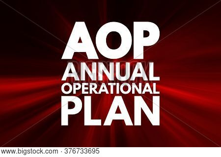 Aop - Annual Operational Plan Acronym, Business Concept Background