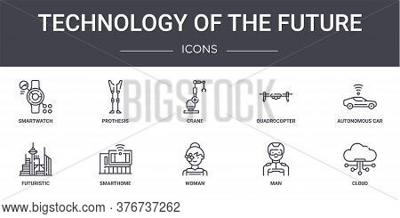 Technology Of The Future Concept Line Icons Set. Contains Icons Usable For Web, Logo, Ui Ux Such As
