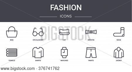 Fashion Concept Line Icons Set. Contains Icons Usable For Web, Logo, Ui Ux Such As Eye Glasses, Neck