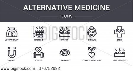 Alternative Medicine Concept Line Icons Set. Contains Icons Usable For Web, Logo, Ui Ux Such As Hot