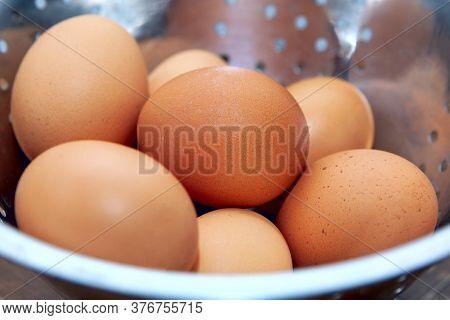 Pile Of Fresh Chicken Eggs . Dietetic Eating