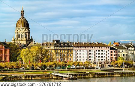 The Christuskirche, A Protestant Church In Mainz - Rhineland-palatinate, Germany