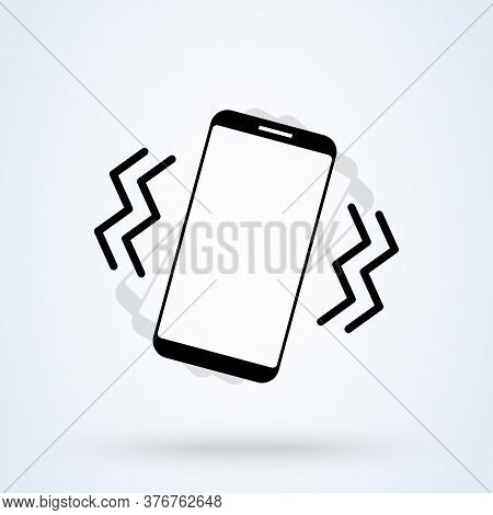 Vibrate Phone. Vector Simple Modern Icon Design Illustration.