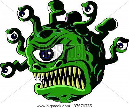 Isolated beholder monster