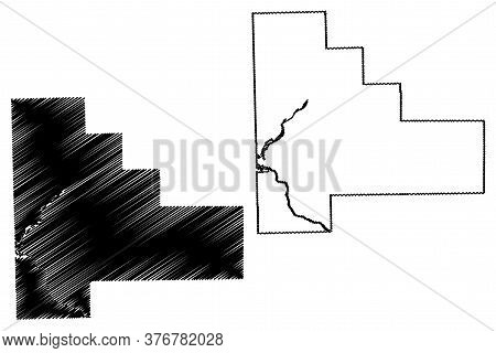 Will County, Illinois (u.s. County, United States Of America, Usa, U.s., Us) Map Vector Illustration