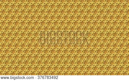 Golden Background. Cut Paper Effect With Embossed Texture. Vector Eps10