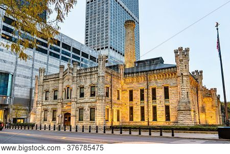 Historic Chicago Avenue Pumping Station In Chicago - Illinois, United States