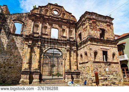 Ruins Of The Society Of Jesus Church At Casco Viejo In Panama City