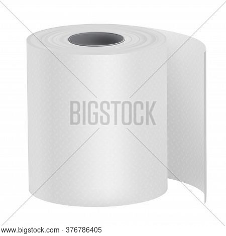 Toilet Paper, Bath Tissue Or Loo Roll. Personal Hygiene Product. Soft Protection For Body.