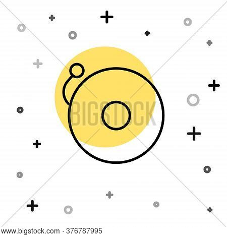 Black Line Ringing Alarm Bell Icon Isolated On White Background. Alarm Symbol, Service Bell, Handbel