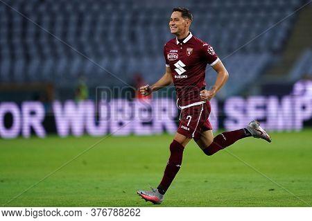 Torino, (italy). 16th July 2020. Italian Football Serie A. Torino Fc Vs Genoa Cfc. Sasa Lukic Of Tor