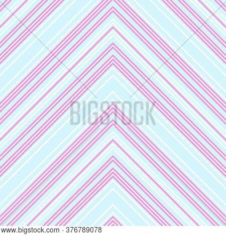 Sky Blue Chevron Diagonal Stripes Seamless Pattern Background