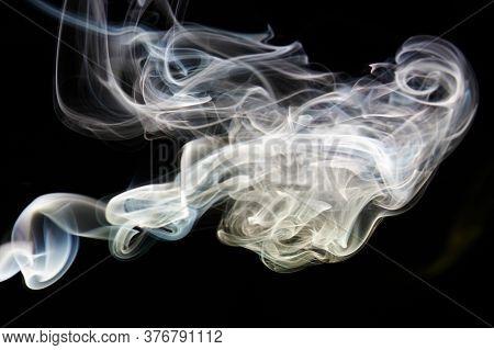 White Smooth Smoke Curve Shape