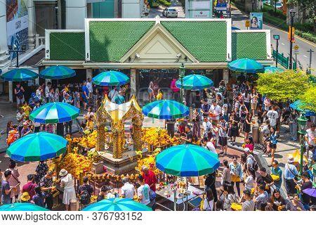 September 16, 2019: Erawan Shrine, Also Known As The Thao Maha Phrom Shrine, One Of The Most Popular