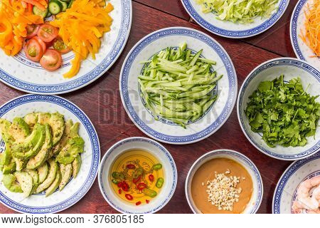 Sauces And Vegetables For Traditional Asian Cooking
