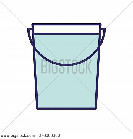 Water Bucket Line And Fill Style Icon Design, Agronomy Lifestyle Agriculture Harvest Rural Farming A