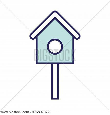 Birds House Line And Fill Style Icon Design, Farm Agronomy Lifestyle Agriculture Harvest Rural Farmi