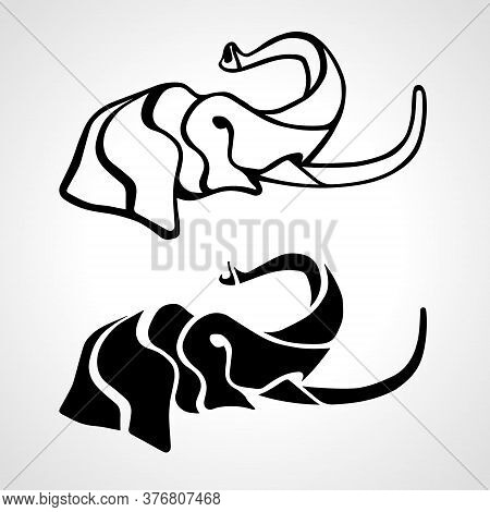 Elephant Head Abstract. Elephant Zoo Logo Vector