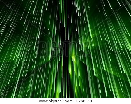 Fantasy Computer Generated Green Texts In Black Background
