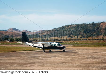 Coron, Philippines - January 29, 2019: Small Private Aircraft Britten-norman Bn-2a-21 Islander Aircr
