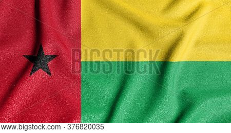 National Flag Of The Guinea-bissau. The Main Symbol Of An Independent Country. Flag Of Guinea-bissau