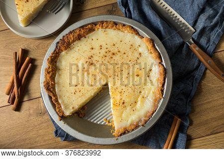 Homemade Sweet Sugar Cream Pie