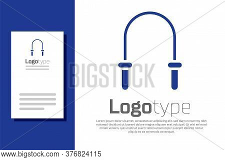 Blue Jump Rope Icon Isolated On White Background. Skipping Rope. Sport Equipment. Logo Design Templa