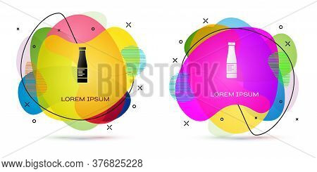 Color Sauce Bottle Icon Isolated On White Background. Ketchup, Mustard And Mayonnaise Bottles With S