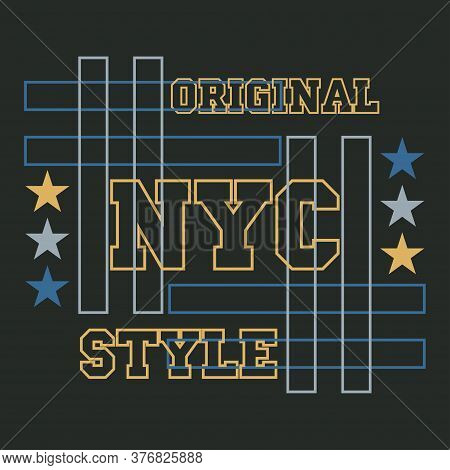 Sport Design Graphic, T-shirt Nyc, New York Typography, Printing Man Nyc