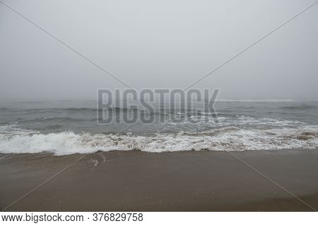Beautiful Beach Landscape On The Baltic Sea In Poland During The Breeze