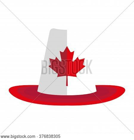 Traditional Canadian Hat Icon. Maple Leaf Icon - Vector