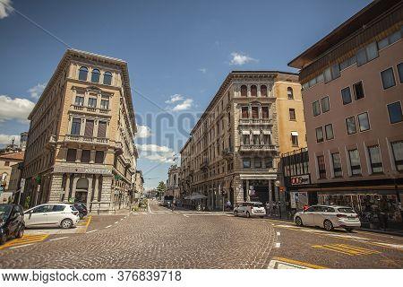 Padova, Italy 17 July 2020: Garibaldi Square In Padua, Italy