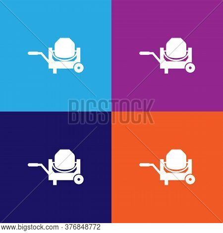 Concrete Mixer Premium Quality Icon. Elements Of Constraction Icon. Signs And Symbols Collection Ico