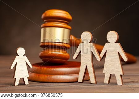 Deprivation Of Parental Rights. The Law Protects Children From Parental Violence. Mother And Father