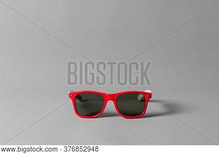 Sunglasses Over Gray