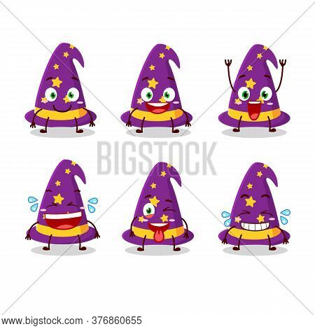 Cartoon Character Of Wizard Hat With Smile Expression