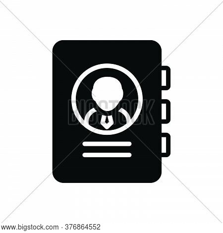 Black Solid Icon For Business-contacts Contact New Add  Communicate Consultant Member Use Organizer