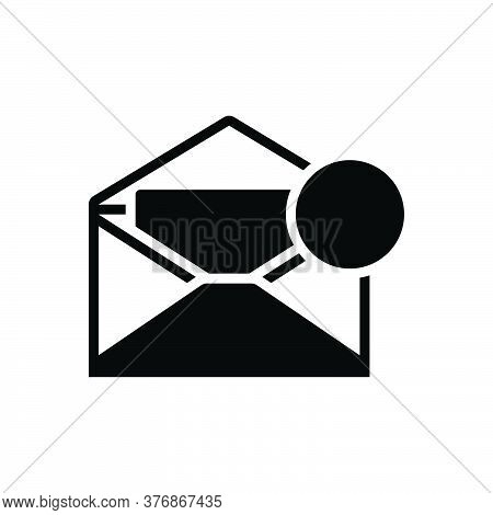 Black Solid Icon For Inbox-message Inbox Message Notification Communication Envelope Reminder Postag
