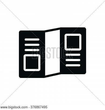 Black Solid Icon For Leaflet-promo Leaflet Promo Template Advertisement Publication Flyer Brochure N